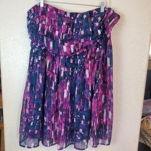 Forever 21 Strapless Purple Chiffon Boho Dress